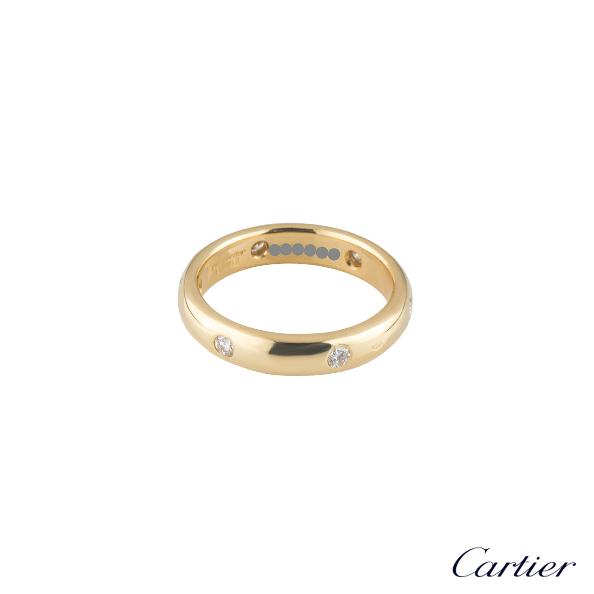 Cartier Yellow Gold Diamond Wedding Band